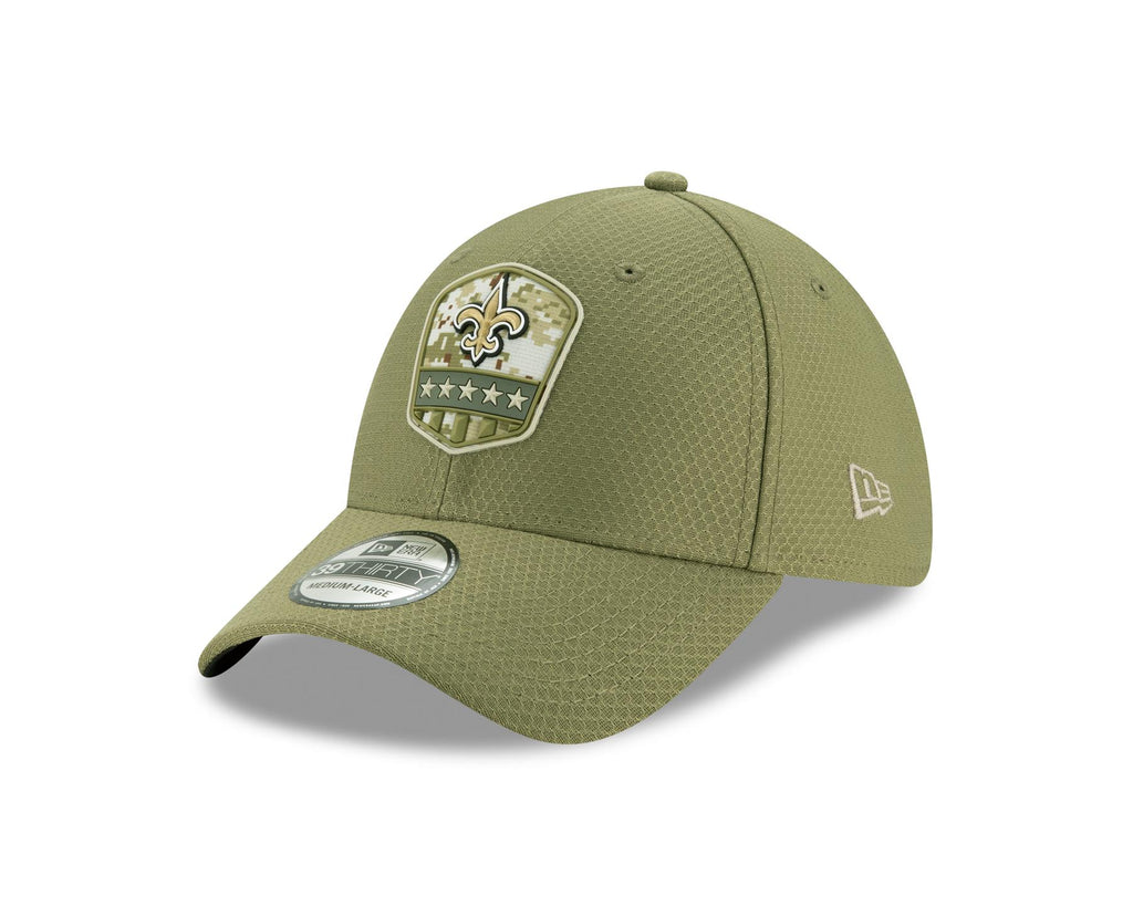 New Orleans Saints 2019 Salute to Service Sideline 39THIRTY Flex Hat