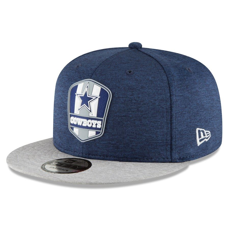 New Era NFL Men's Dallas Cowboys Official Sideline Road 9FIFTY Snapback Hat Blue Adjustable