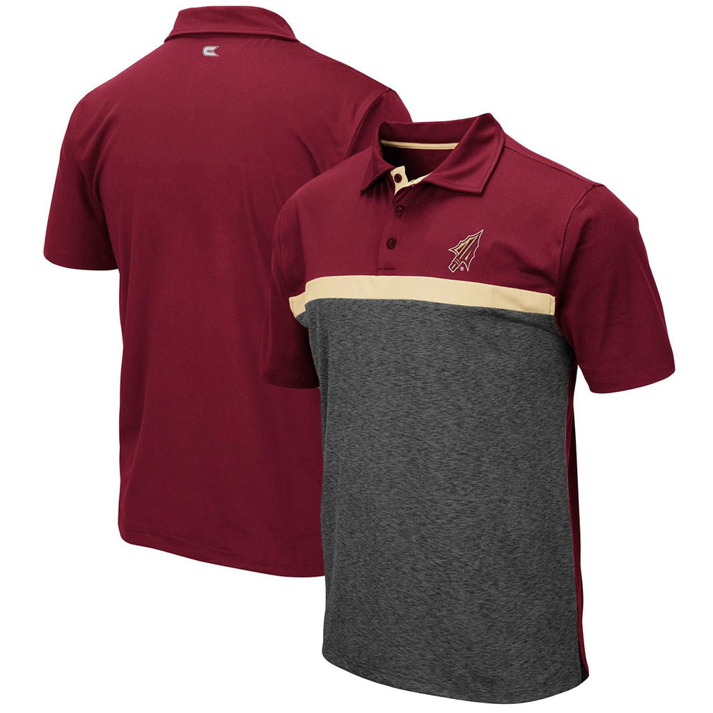 Colosseum NCAA Men's Florida State Seminoles (FSU) Capital City Polo