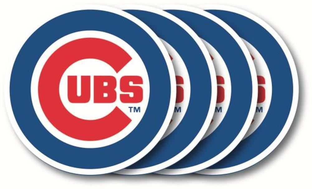 Duck House MLB Chicago Cubs Coaster Set 4-Pack