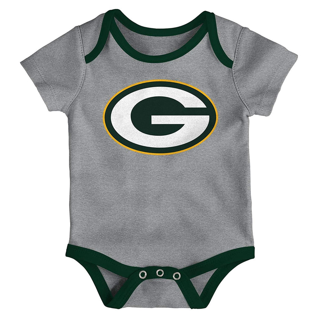 Outerstuff NFL Green Bay Packers Infant Little Tailgater 3-Piece Creeper Set  Yellow Green 7606f6c5b