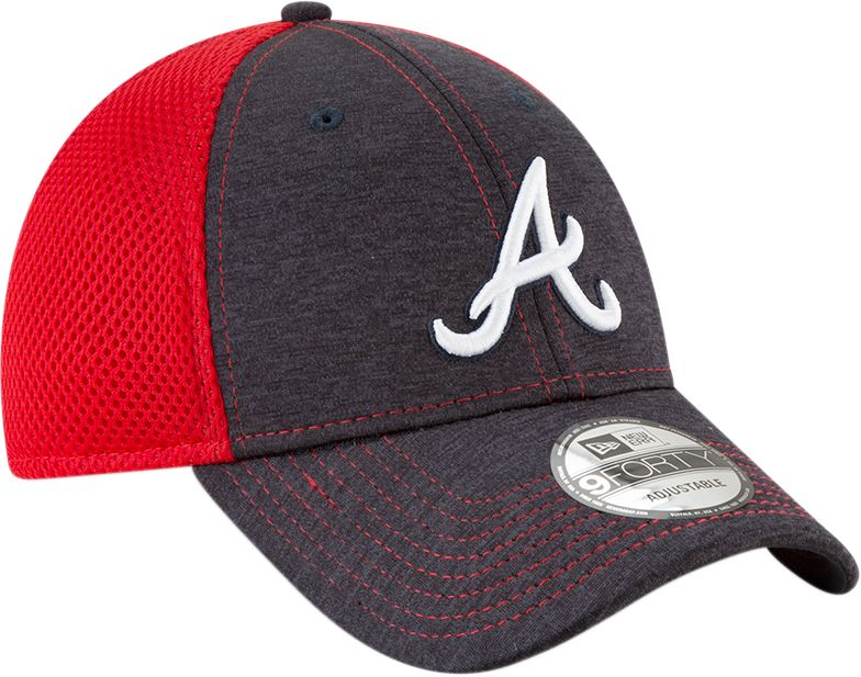 New Era MLB Men's Atlanta Braves Shadow Turn 2 9FORTY Adjustable Hat