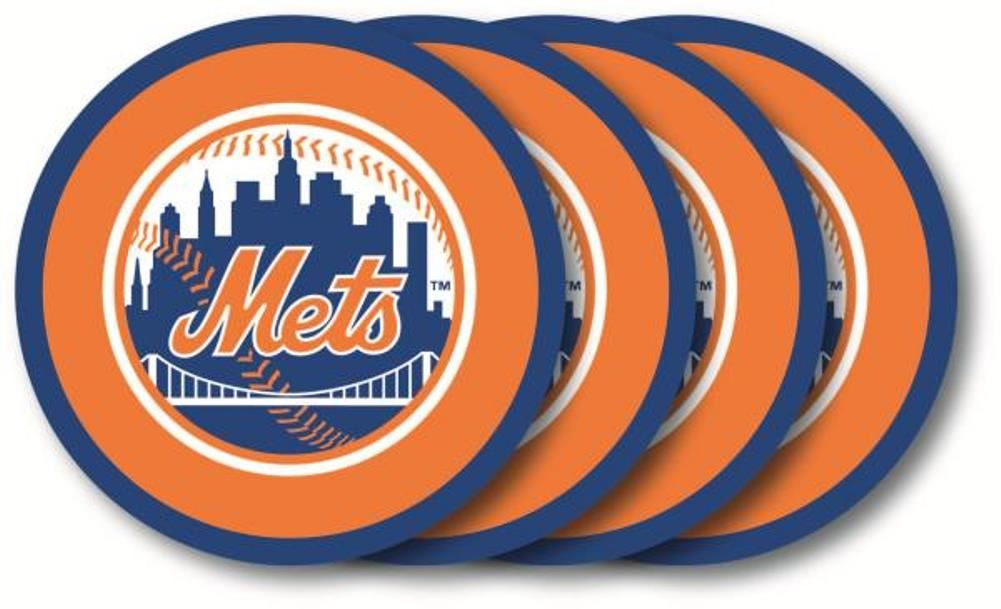 Duck House MLB New York Mets Coaster Set 4-Pack
