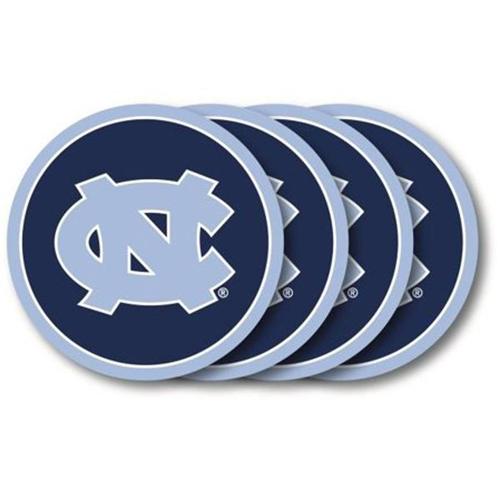 Duck House NCAA North Carolina Tar Heels Coaster Set 4-Pack