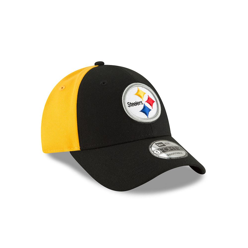 b199827e New Era Men's NFL Pittsburgh Steelers NE Blocked Team 9FORTY Adjustable Hat  Black/Yellow OSFA