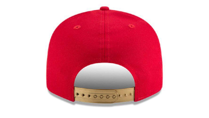 New Era NFL Men's San Francisco 49ers Tribute Flip 9FIFTY Snapback Adjustable Hat Red
