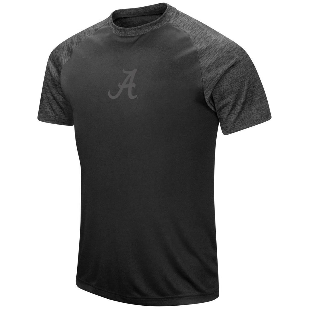Colosseum NCAA Men's Alabama Crimson Tide Mud Dogs Blackout Raglan T-Shirt