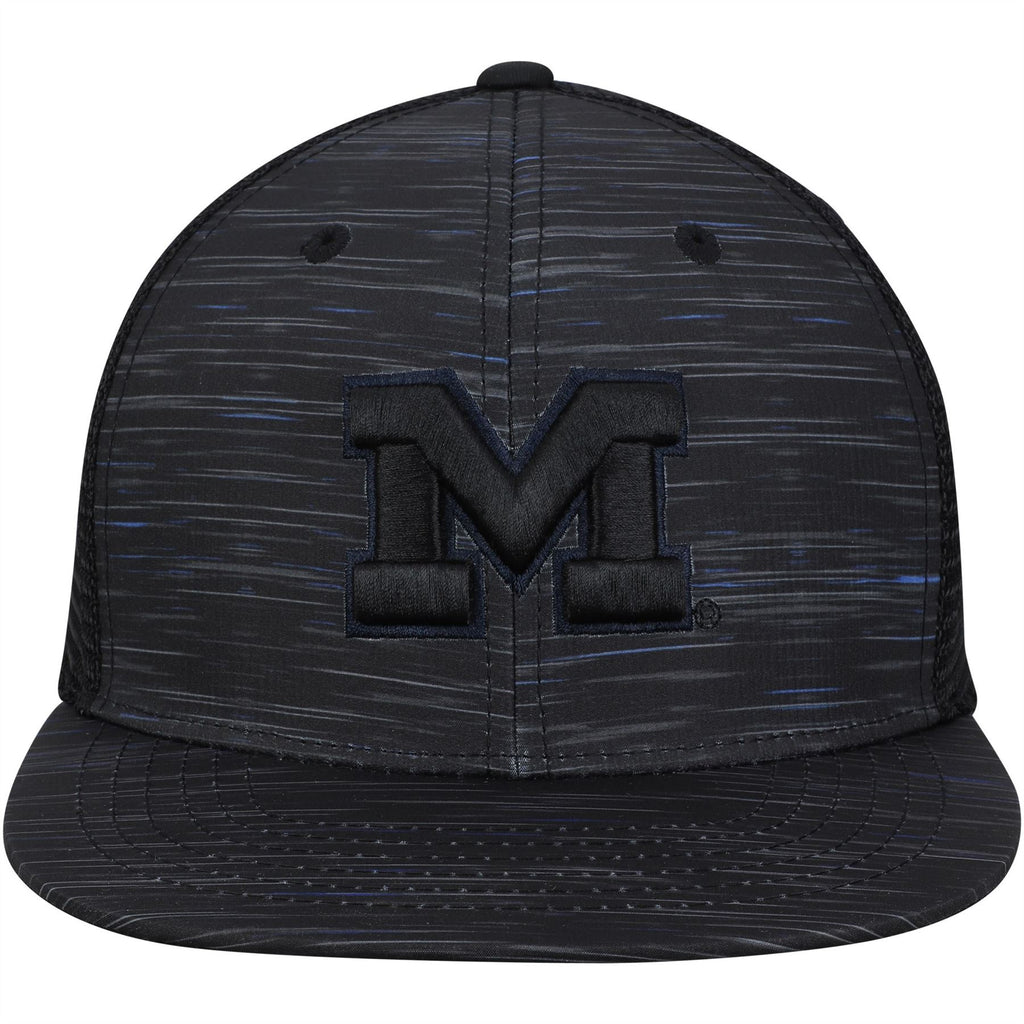 Top Of The World NCAA Men's Michigan Wolverines Frantic Adjustable Hat Black One Size