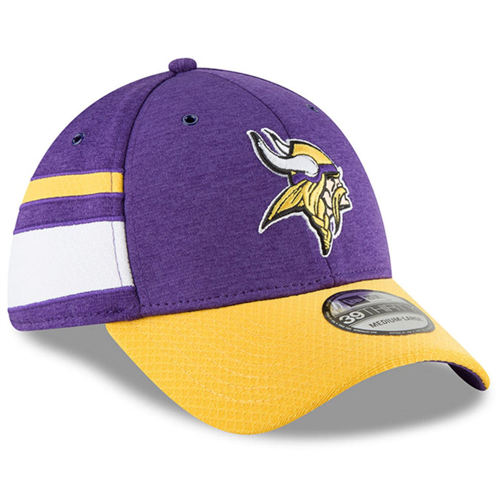 New Era NFL Men's Minnesota Vikings 2018 Sideline Official 39Thirty Flex Hat