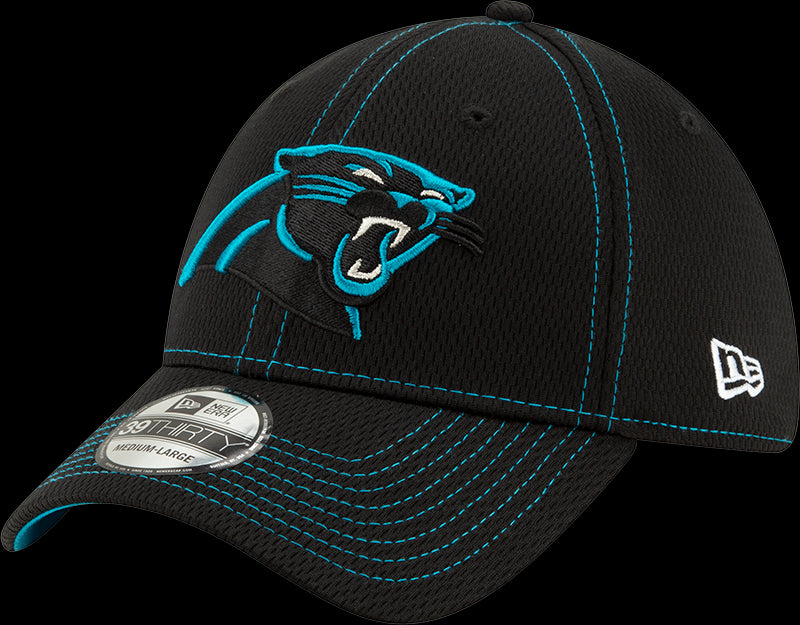 New Era NFL Men's Carolina Panthers 2019 Sideline Road Official 39THIRTY Flex Hat