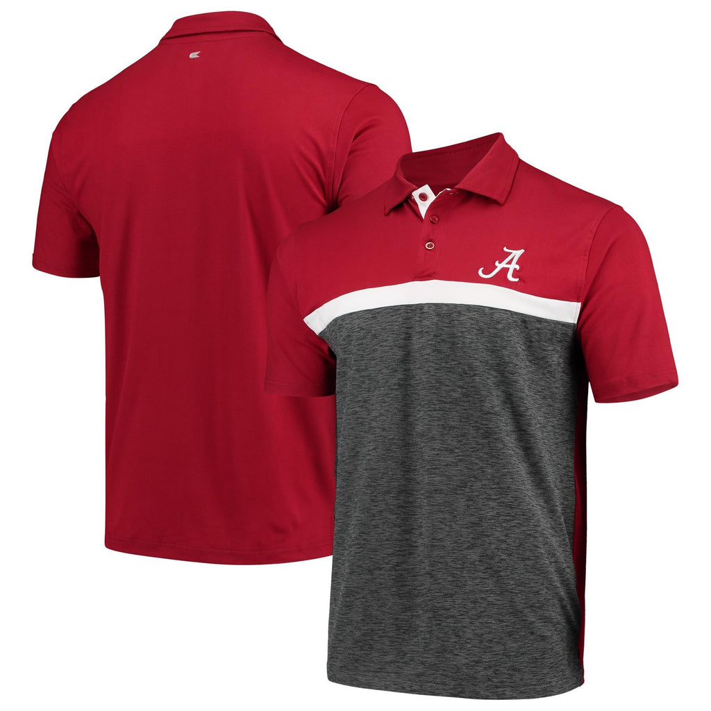 Colosseum NCAA Men's Alabama Crimson Tide Capital City Polo