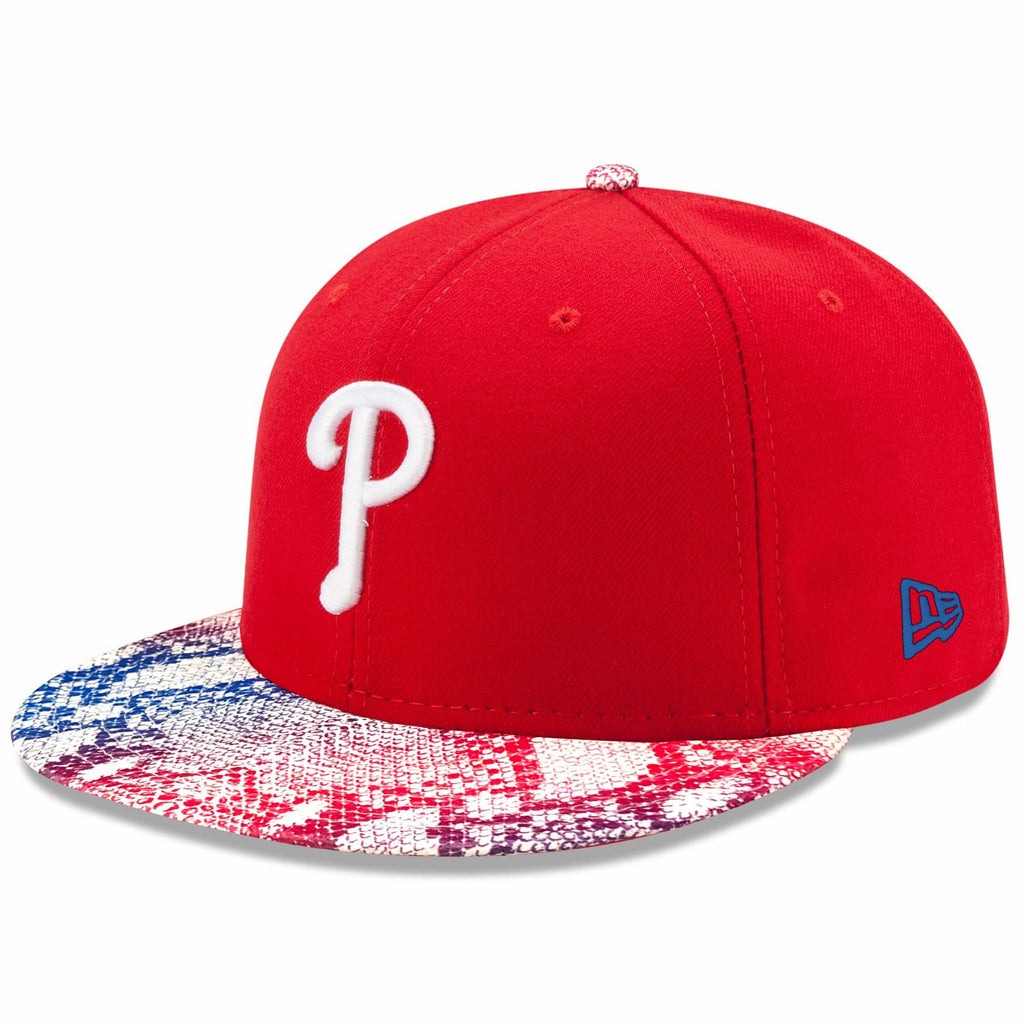 New Era MLB Men's Philadelphia Phillies Visor Craze 9FIFTY Adjustable Snapback Hat