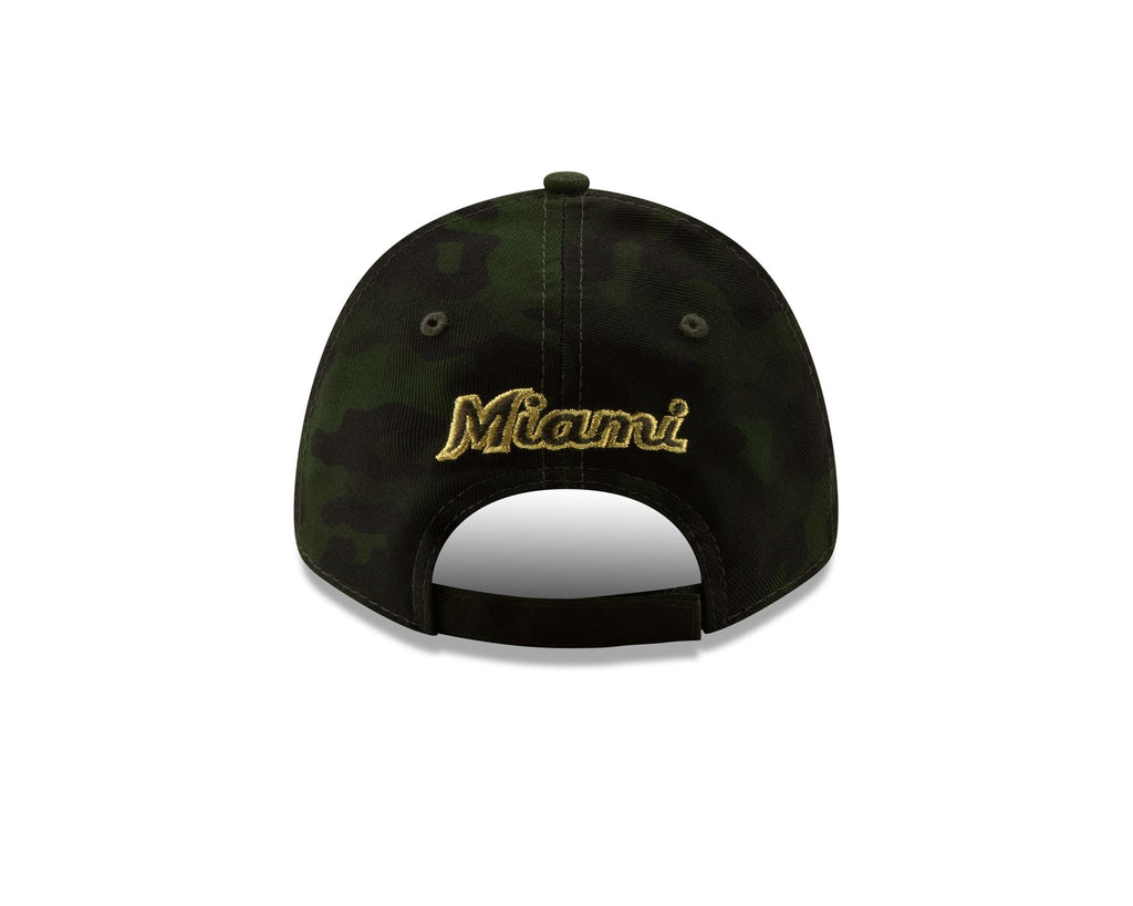 huge discount 4119e 9a4f8 New Era MLB Men s Miami Marlins Armed Forces Day On-Field 9FORTY Adjustable  Hat ...