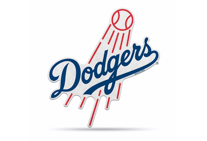 "Rico MLB Los Angeles Dodgers Shape Cut Primary Logo Pennant 18"" x 18"""