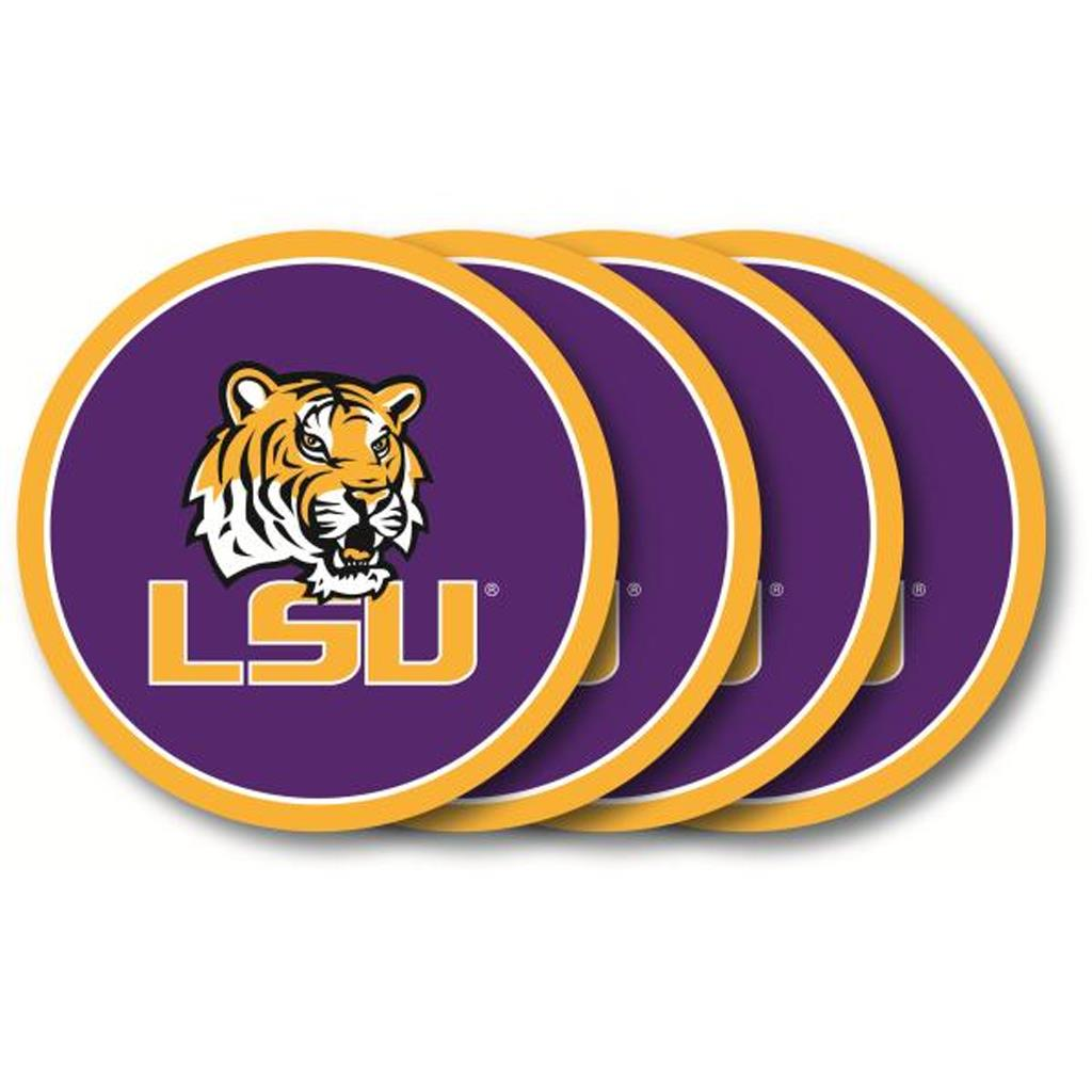 Duck House NCAA LSU Tigers Coaster Set 4-Pack