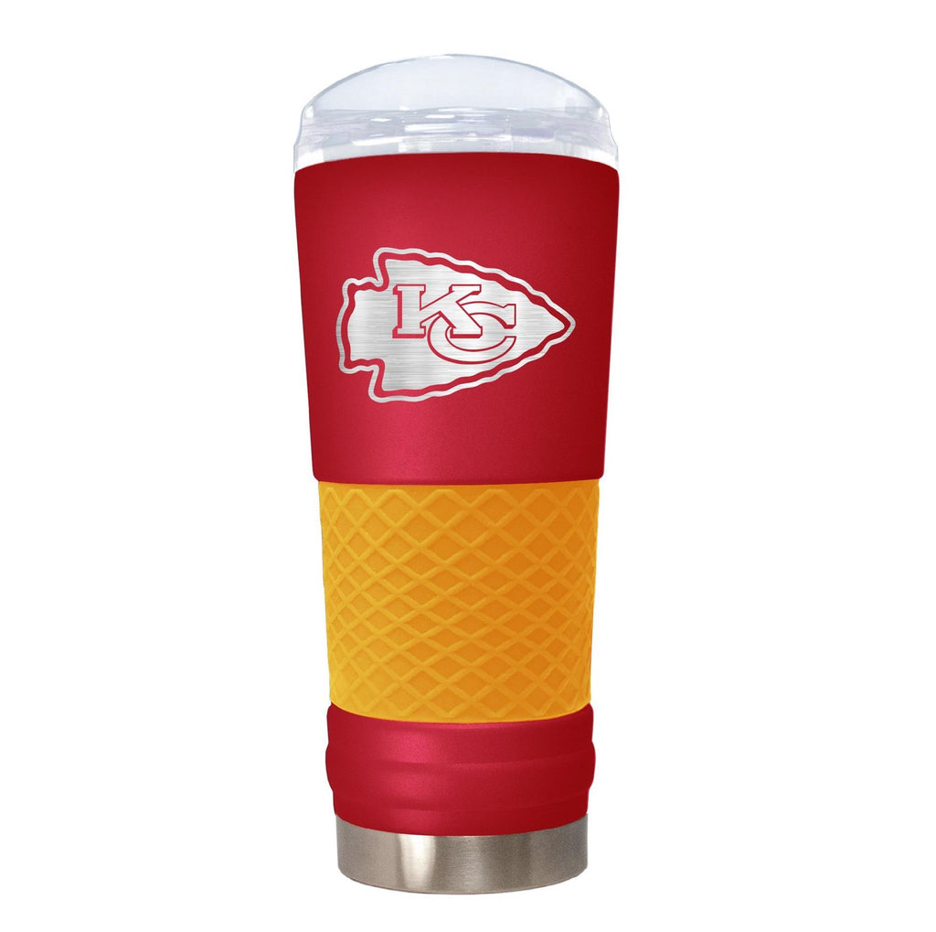 Great American Products NFL Kansas City Chiefs Powder Coated Draft Tumbler 24oz Red