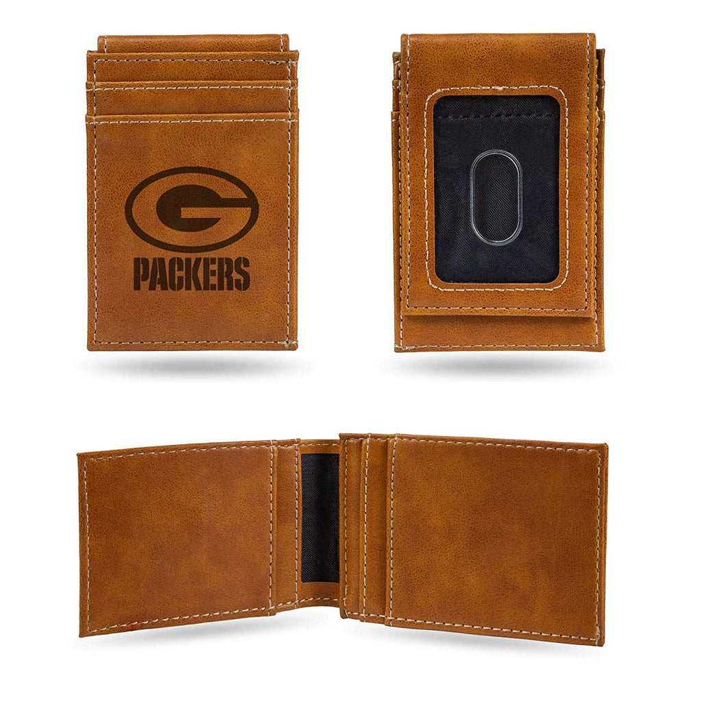 Rico NFL Green Bay Packers Laser Engraved Front Pocket Wallet