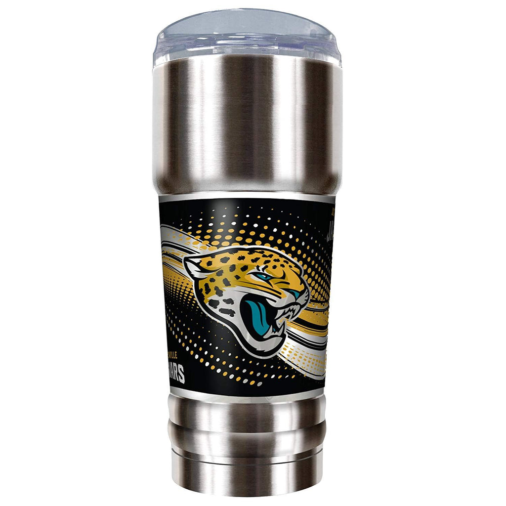 Great American Products NFL Jacksonville Jaguars PRO Tumbler with Metallic Graphics Silver 32 oz