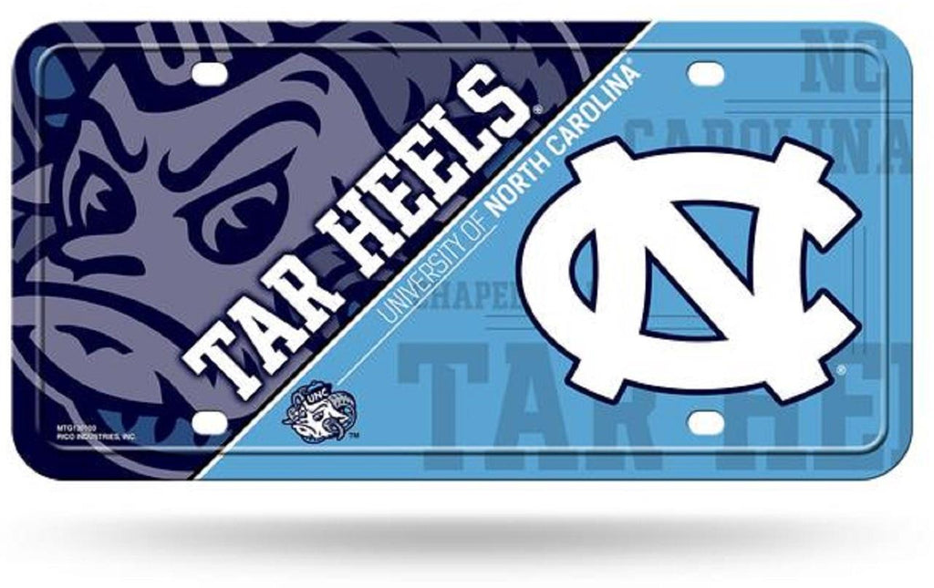 Rico NCAA North Carolina Tar Heels Auto Metal Tag Car License Plate MTG