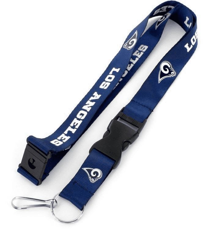 Aminco NFL Los Angeles Rams Team Lanyard Navy/White