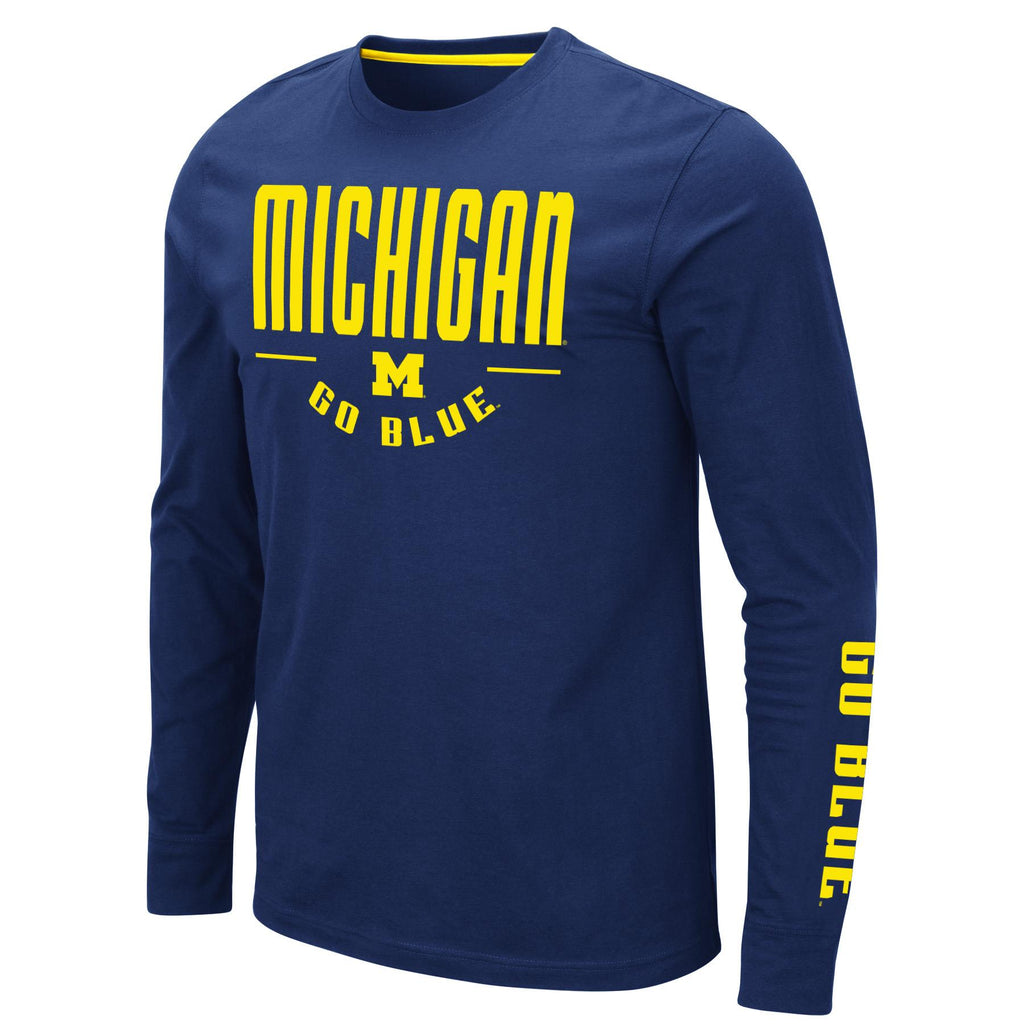 Colosseum NCAA Men's Michigan Wolverines Streetcar Long Sleeve T-Shirt