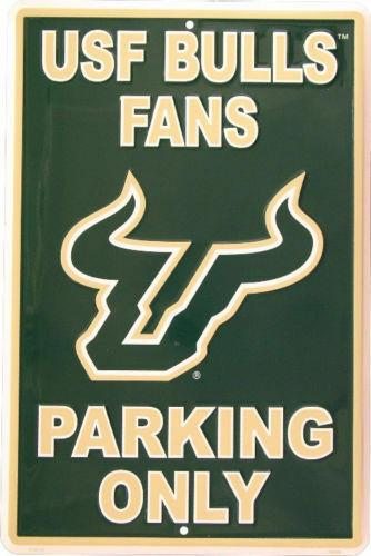 "HangTime NCAA South Florida Bulls (USF) Fans Only Parking Sign 12"" x 18"""