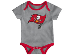 Outerstuff NFL Tampa Bay Buccaneers Infant Little Tailgater 3-Piece Creeper Set Red/Pewter/Grey