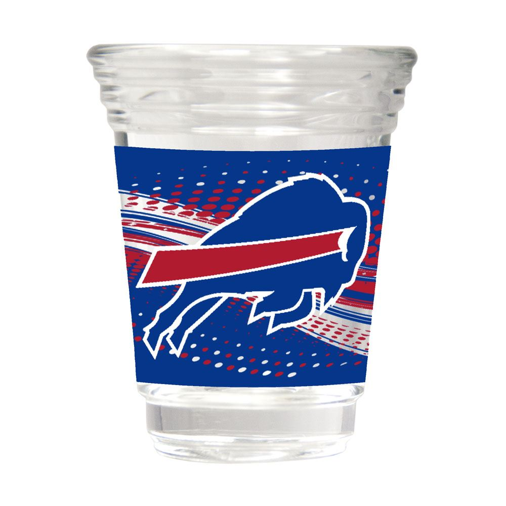 Great American Products NFL Buffalo Bills Party Shot Glass w/Metallic Graphics 2oz.