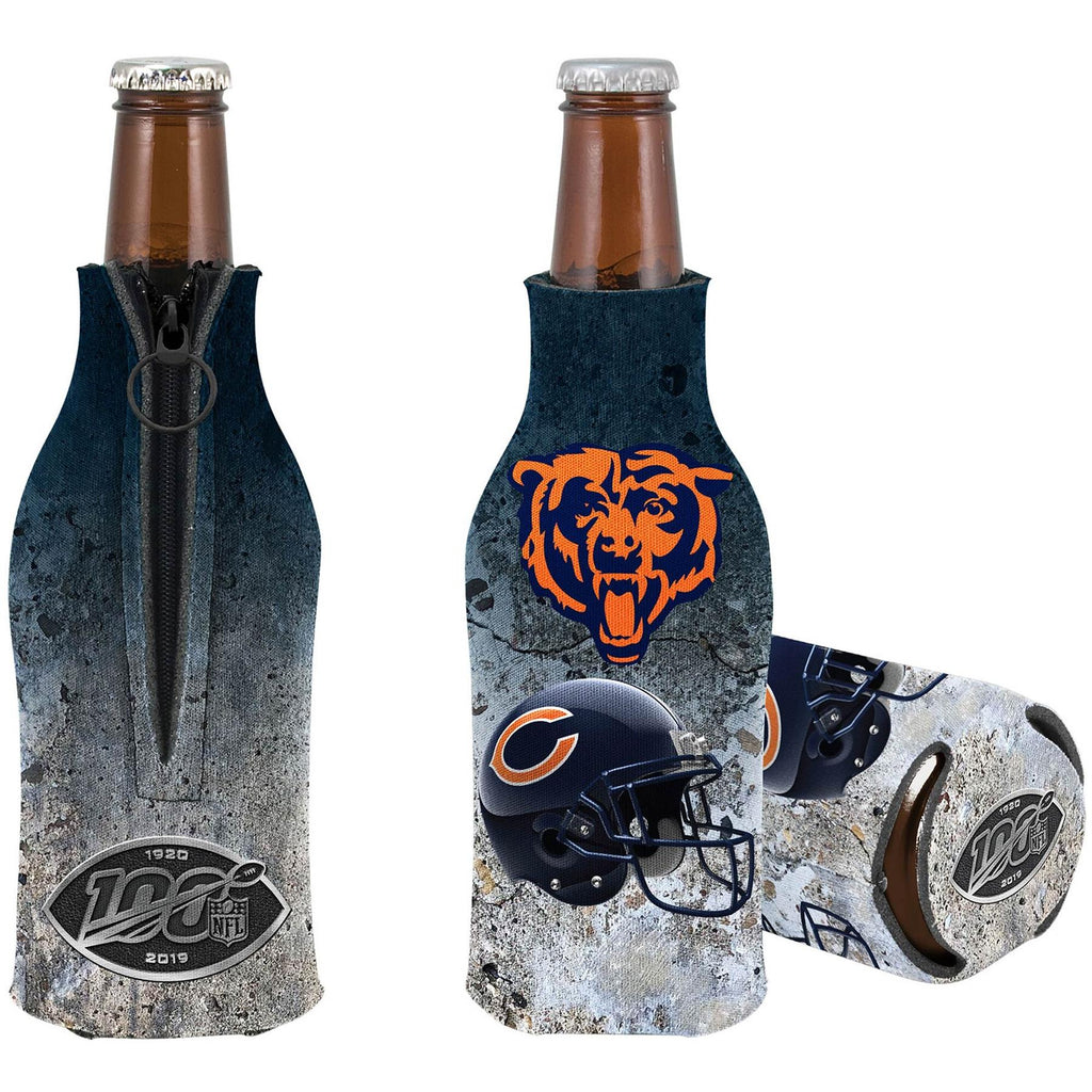 Kolder NFL Chicago Bears NFL 100th Season Zip Bottle Coolie Koozie