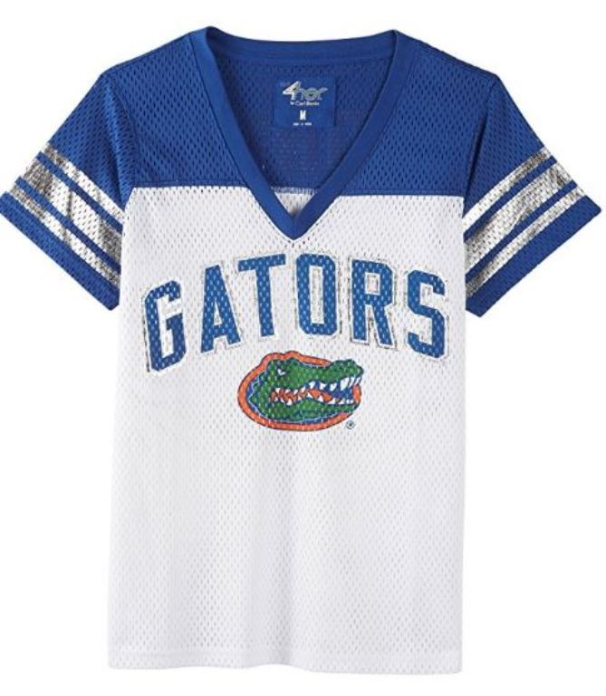 G-III NCAA Women's Florida Gators  All American V-Neck Mesh T-Shirt