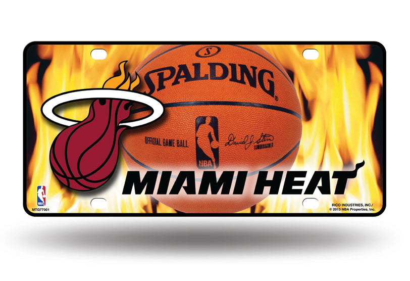 Rico NBA Miami Heat Auto Metal Tag Car License Plate MTG