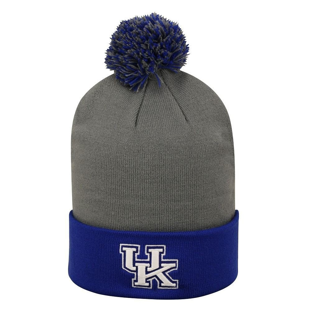 Top Of The World NCAA Men's Kentucky Wildcats Pom Pom Cuffed Knit Beanie