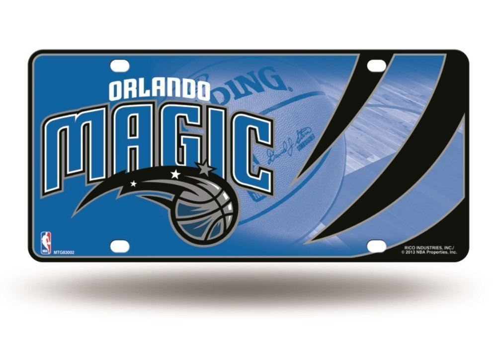 pretty nice 193e5 68ef2 Rico NBA Orlando Magic Auto Metal Tag Car License Plate MTG