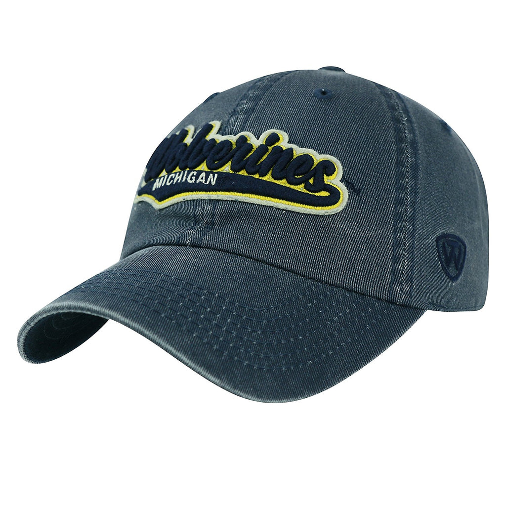 Top Of The World NCAA Men's Michigan Wolverines Men's Park Hat Navy Adjustable