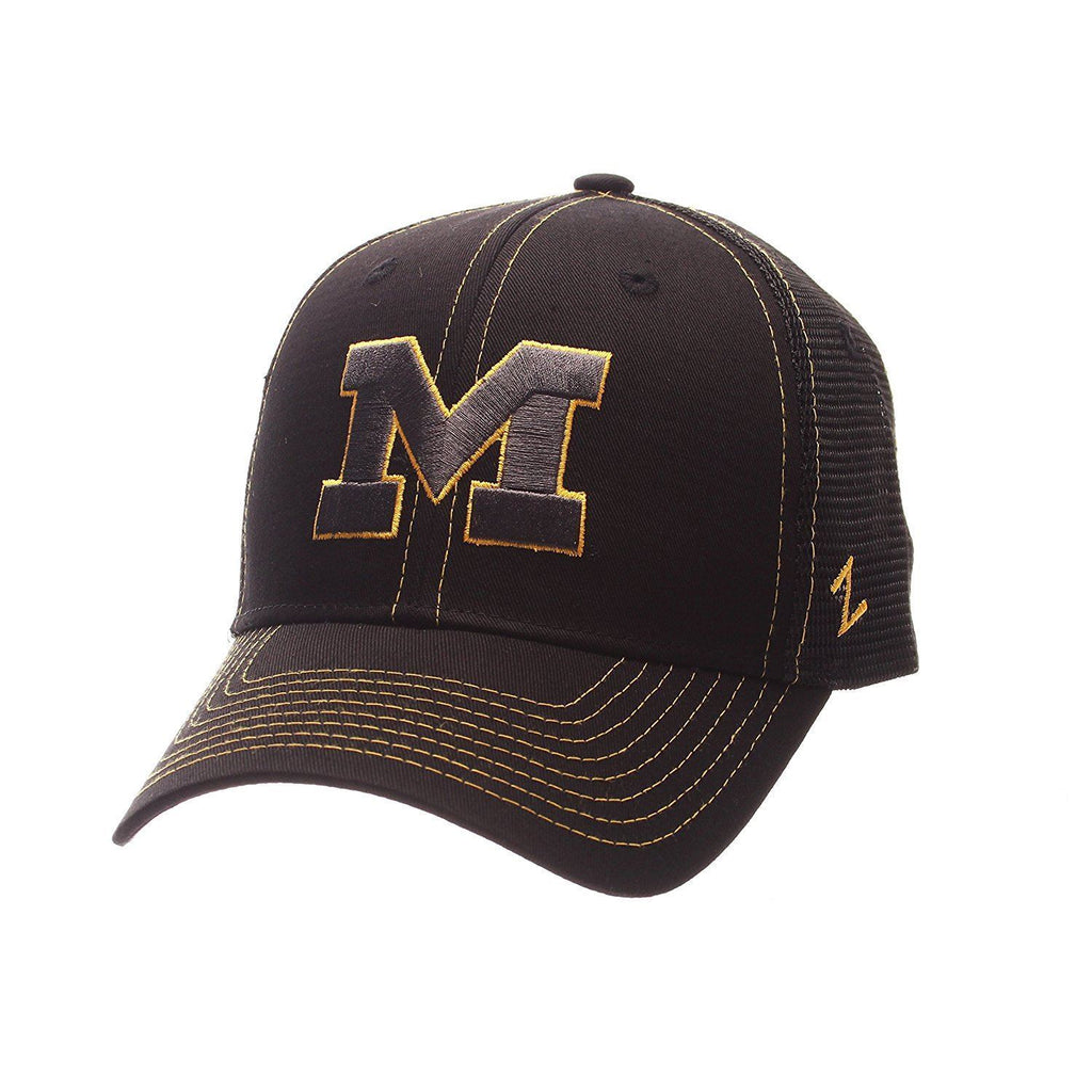 Zephyr NCAA Michigan Wolverines Staple Trucker Adjustable Cap Black