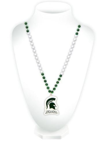 Rico NCAA Michigan State Spartans Beads with Logo Medallion