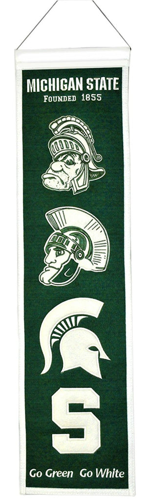 "Winning Streak NCAA Michigan State Spartans Heritage Banner 8""x32"""
