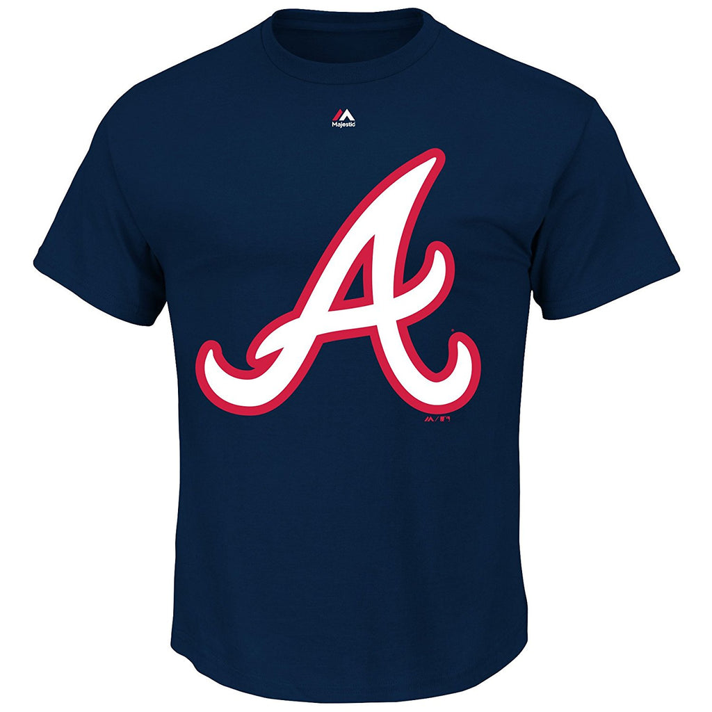 Majestic MLB Men's Atlanta Braves Official Logo T-Shirt