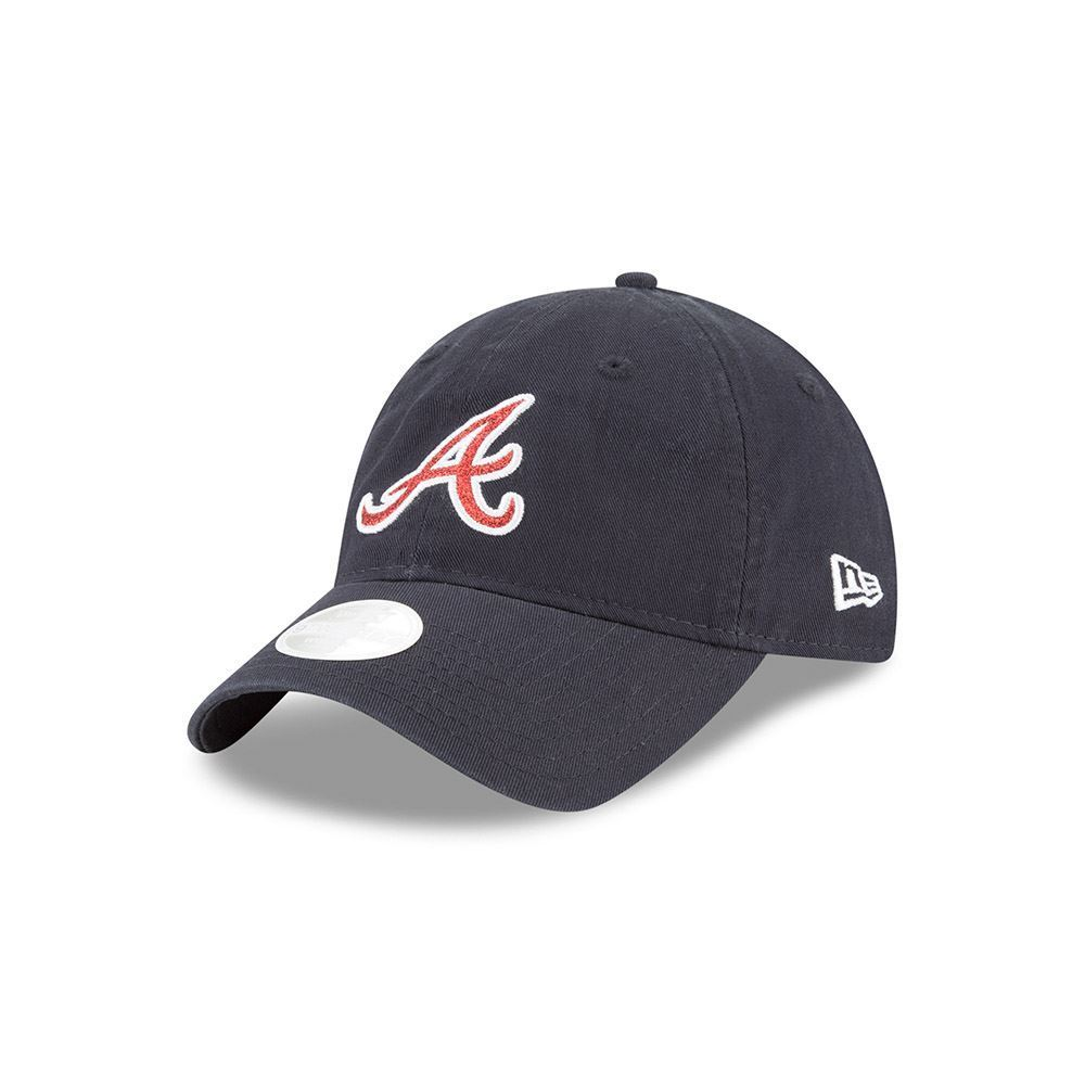 New Era MLB Women's Atlanta Braves Team Glisten 9TWENTY Adjustable Hat