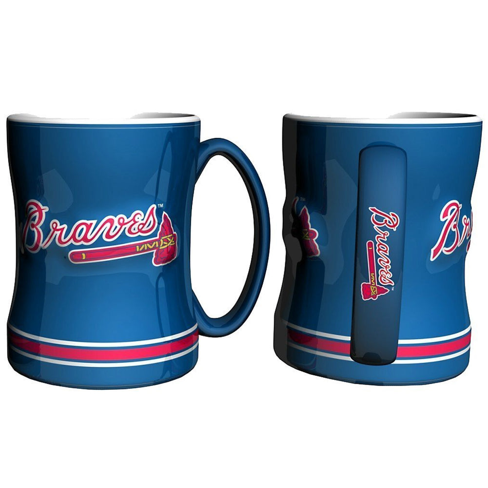 Boelter MLB Atlanta Braves Sculpted Relief Mug Team Color 14oz