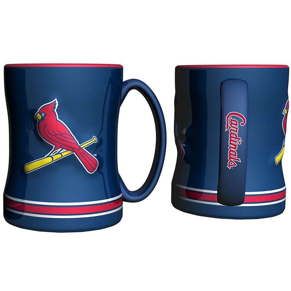 Boelter MLB St. Louis Cardinals Sculpted Relief Mug Team Color 14oz