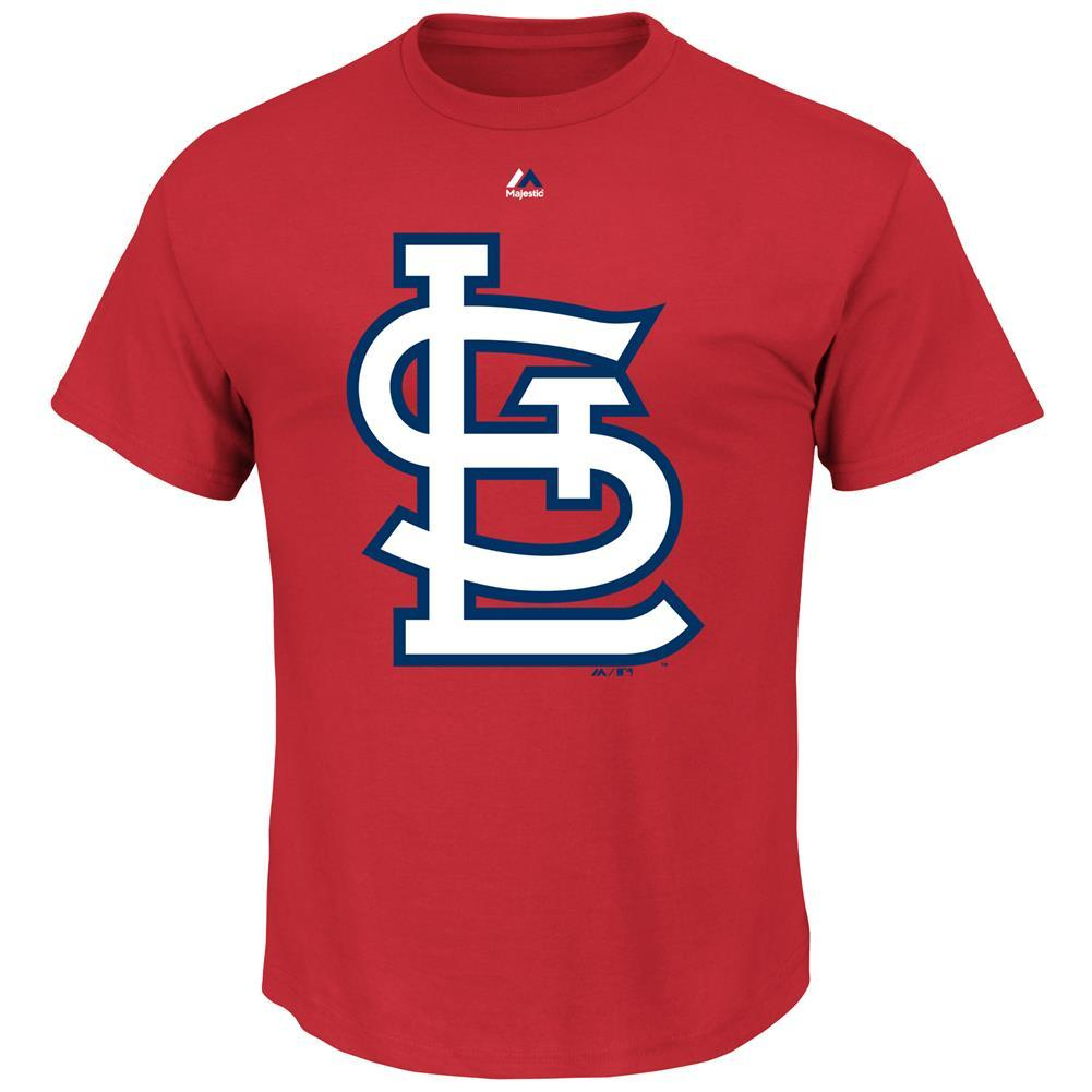 Majestic MLB Men's St. Louis Cardinals Official Logo T-Shirt