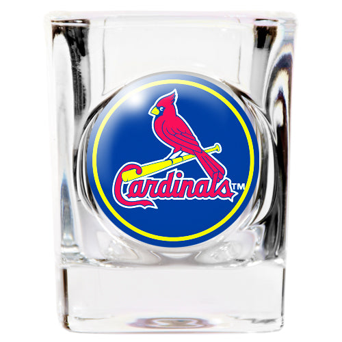 Great American Products MLB St. Louis Cardinals Indent Square Shot Glass Clear 2 oz