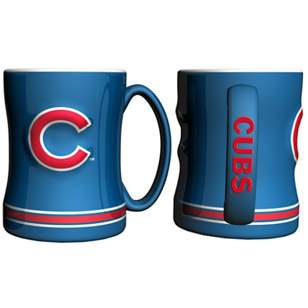 Boelter MLB Chicago Cubs Sculpted Relief Mug Team Color 14oz