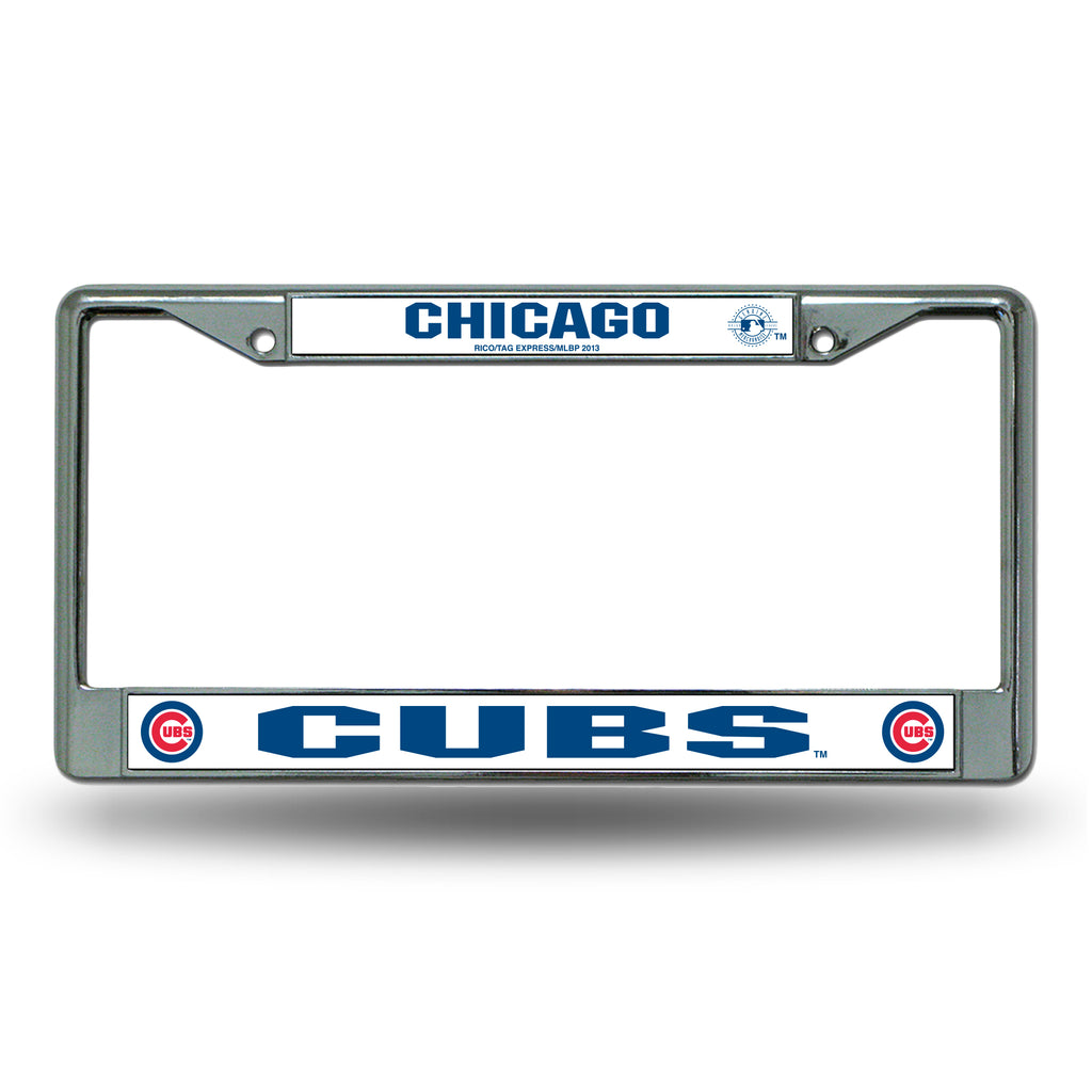 Rico MLB Chicago Cubs Auto Tag Chrome Frame FC