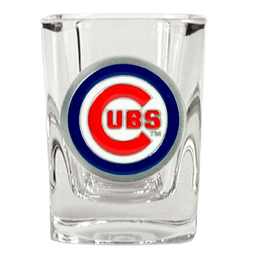Great American Products MLB Chicago Cubs Metal Emblem Square Shot Glass 2oz