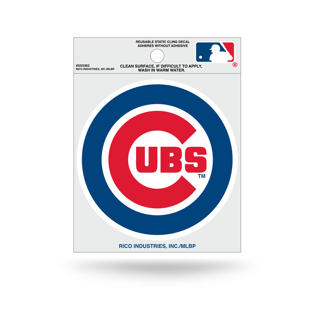 Rico MLB Chicago Cubs Logo Static Cling Auto Decal Car Sticker Small SS