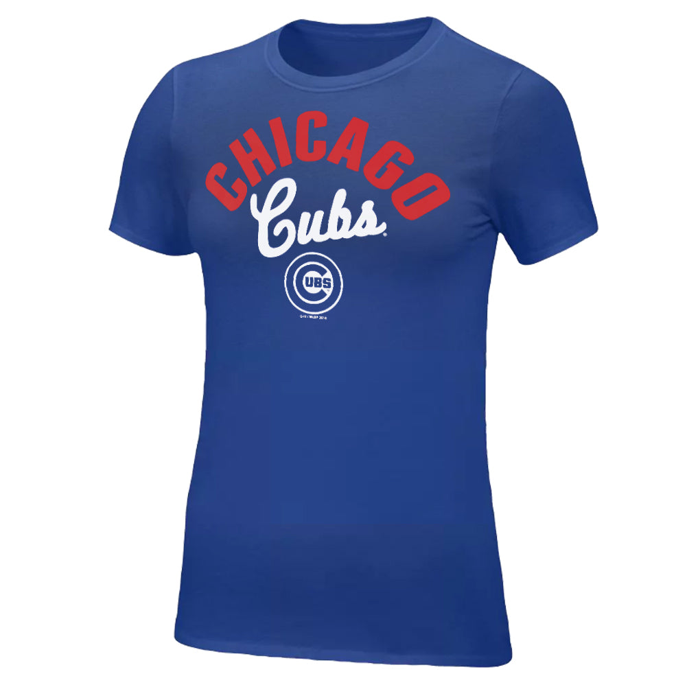 G-III MLB Women's Chicago Cubs Tailgate Scoopneck T-Shirt