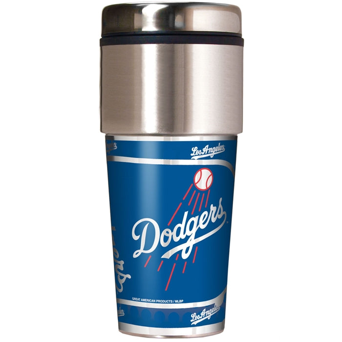 Great American Products MLB Los Angeles Dodgers Stainless Steel Travel Tumbler with Metallic Graphics 16 oz