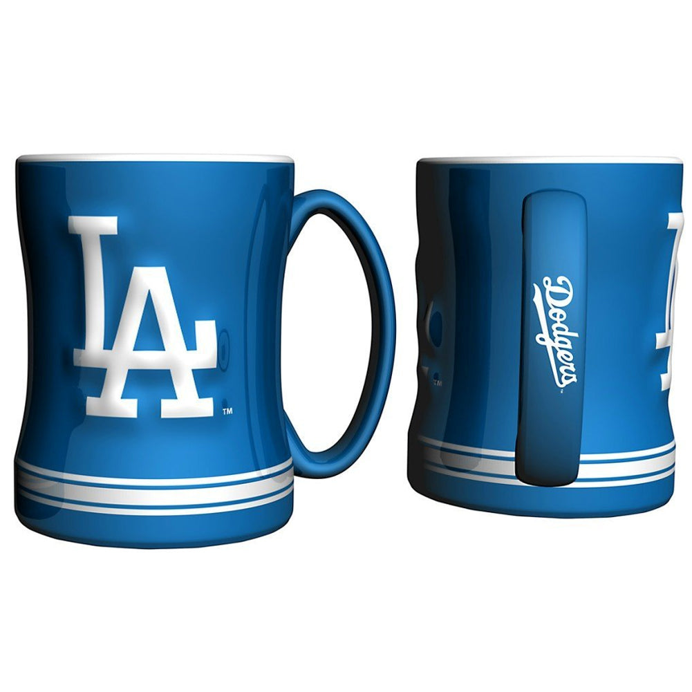 Boelter MLB Los Angeles Dodgers Sculpted Relief Mug Team Color 14oz